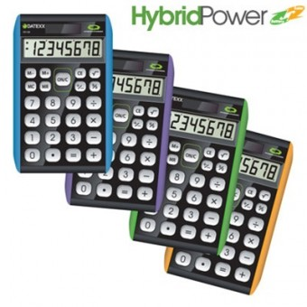 Paquete de 10 calculadoras  Datexx para escritorio, 8 dígitos, híbrida