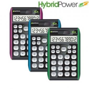 Paquete de 10 calculadoras  Datexx para escritorio, 12 dígitos, híbrida
