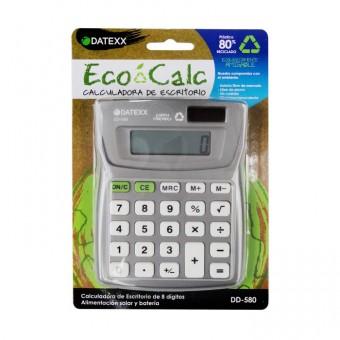 Paquete de 10 calculadoras  Eco-calc escritorio dual power 8 dígitos, memoria