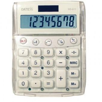 Paquete de 5 calculadoras 8 dígitos  color neón, dual power
