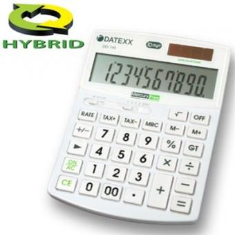 Paquete de 5 calculadoras  Datexx para escritorio, 10 dígitos, híbrida