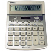 Paquete de 5 calculadoras  12 dígitos, metálica, impuesto, margen, revisión