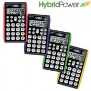 Paquete de 10 calculadoras  Datexx practica 8 dígitos, híbrida