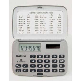Paquete de  10 Calculadoras horizontales, dual power 8 dígitos. Con tapa