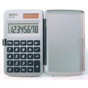 Paquete de 5 Calculadoras verticales, dual power 8 dígitos. Con tapa, Pantalla grande