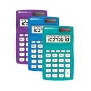 Paquete de 5 calculadoras  Eco-calc dual power 8 dígitos memoria indep
