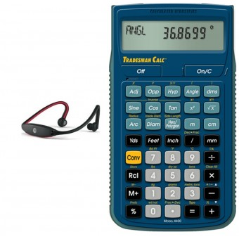 Audifonos Inalambricos bluetooth con Calculadora Tradesman Calc (Paquete Estructural III)