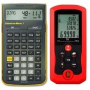 Medidor de Distancia Laser 70 Metros y Calculadora Construction Master Pro (Paquete Constructor Pro)