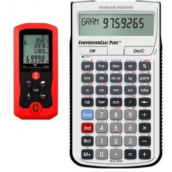 Medidor de Distancia Laser 70 Metros y Calculadora ConversionCalc Plus