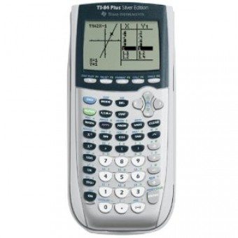 Graphing Calculator Texas Instruments TI 84 Plus Silver Edition