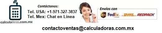 Calculadoras - Venta de Calculadoras Gráficas, Científicas y Financieras