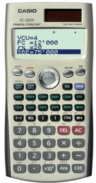 Compra Aqui tu Calculadora Casio FC 200V y Llevate el Libro de Finanzas Gratis